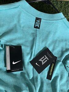 Nike Tiger Woods TW AeroReact Vapor Blade Golf Shirt BV1315-309 Jade Green XXL