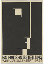 Enmarcado impresión Weimar Bauhaus exposición Arte Alemán Titel cartel C. 1923