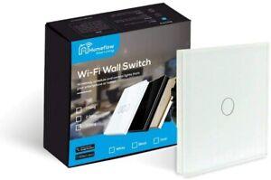 WiFi Smart Light Switch Smart Light Glass Switch - 1 Gang