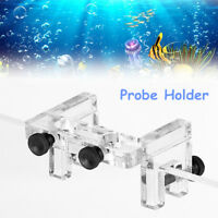 Acrylic Aquarium Fish Tank Dual Holes Probe Holder Hose Fixture Support  US