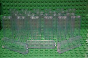 LEGO 25 x CLEAR COLUMN BRICKS 1x2x5 -WALL-WINDOW- No 2454/46212 CITY,STAR WARS