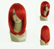 Rote Glatte Klassische-Kappe Perücken & Haarteile mit Mittel