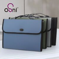12 Pockets 3 Colors A4 Office Expanding File Folder Holder Organizer Hand Bag #Y