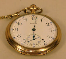Antique E Howard 17 Jewels Pocket Watch Running Condition 25 Yr Gold Filled Case