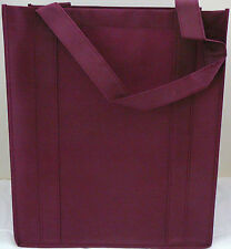 Large Size Reusable GROCERY BAG - BURGUNDY - Recyclable EcoFriendly Shopping Bag