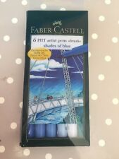 Faber-Castell Pitt Artist Pen Brush Shades Of Blue