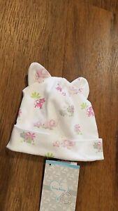 New Spring 2020 Kissy Kissy pink safari pima cotton baby hat,small(0-3mo),NWT