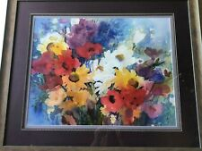 "Joan Mckasson Original Watercolor Garden, Signed, Framed, 25"" x 20"" (Image)"