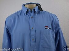 NEW Blue Generation Staples Copy&Print Embroidered Men's Long Sleeve Shirt Sz L