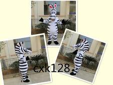 Zebra Mascot Costume Marty Cartoon Halloween Xmas Cosplay Party Dress Adult gift