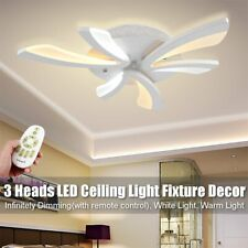 21w Dimmable Acrylic Modern LED Ceiling Light Lamp Home Bedroom Fixture Decor