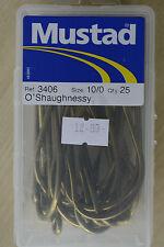 MUSTAD 3406 O ' Shaughnessy BRONZE Pêche En Mer Big Hameçons À Poissons 8/0 &