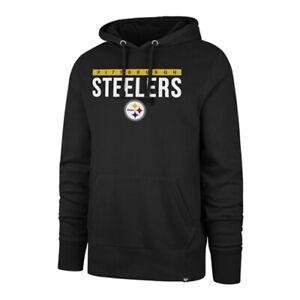 Pittsburgh Steelers NFL '47 Brand Jet Black Power Luck Men's Pullover Hoodie