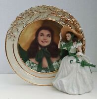 Bradford Exchange Gone With The Wind Plate and Figurine Belle Of The Barbecue