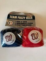 Washington Nationals Team Logo Pair of Hanging Fuzzy Dice