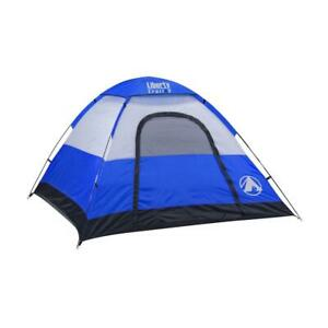 GigaTent Tent 7X7 Ft 3 Person Dome Waterproof UV Resistant Camping Fabric Blue