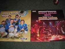JAZZ/RAGTIME-2 LP'S SHEP'S BANJO BOYS SIGNED  UK NEVIS LP 113+LIVE GOLDEN GARTER