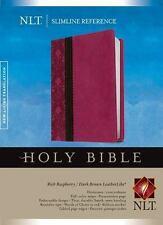 NLT Slimline Reference Bible ( Raspberry / Dark Brown Leatherlike)