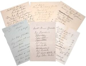 A small group of Missionary letters, address and donation lists, c. 1884.