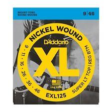 5 Pack! D'Addario EXL125 Super LT Top Reg BTM Nickel Wound 9-46 Ships FREE U.S.