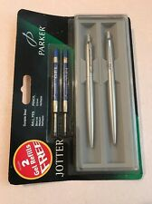 PARKER JOTTER FLIGHTER BALLPOINT PEN & PENCIL-REFILLS-BOXED-NEW OLD STOCK