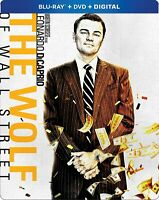 The Wolf of Wall Street (Blu-ray Disc, 2018, 2-Disc Set, SteelBook) New