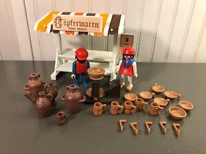 middle ages-tray dark brown vintage market etal 3296 Playmobil l1138