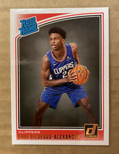 2018-19 NBA Donruss Shai Gilgeous-Alexander Rated Rookie RC 🔥 #162 Clippers