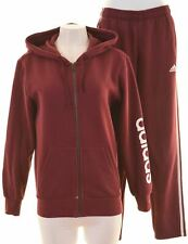 ADIDAS Womens Full Tracksuit Size 14 Medium Maroon  H210