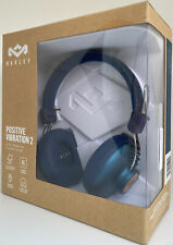 House of Marley Positive Vibration 2 On-Ear Wired Headphones Denim Blue NEW