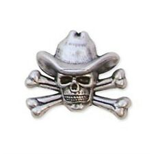 "Cowboy Skull & Crossbones Conc - & Concho 1-1 4""x 1"" Leathercraft Accent Tandy"