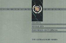 Big 1990 Cadillac Ultra-Luxury Brochure:Allante,Seville Sts,Fleetwood 60 Special