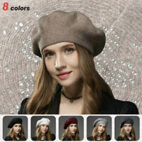 Winter Knitted Beret Hat Fashion Warm Wool Cashmere Women Ladies Autumn Cap