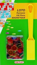 Kim'Play - Magnetic Bingo Tiddlywinks (Pack Of 100) With Collector