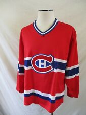 LAFLEUR 10 vintage CCM Montreal Canadiens red white blue jersey tank top LARGE