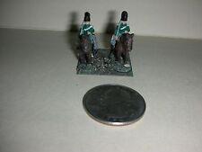 """Vintage Lead Miniature Field Soldiers on Horses - 1"""" Tall - (#21)"""