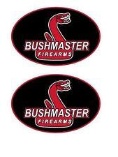 2 BUSHMASTER Firearms Decal Stickers AR 15 223 5.56 Assault Rifle Gun