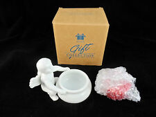 Vintage Avon Cupid Candle Holder With One Rose Fragrance Candle*Nib*Very Rare*