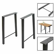 "2pcs Metal Table Legs Dining Table Legs 28"" Trapezoid Shape Bench Leg Desk Legs"