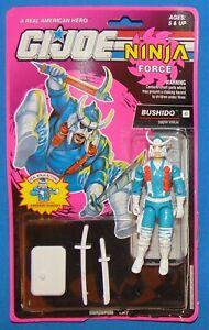 """GI Joe Ninja Force BUSHIDO SNOW NINJA *Loose* 3.75"""" Teisho Chop Hasbro 1992"""