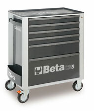 Beta Tools C24S 6 Drawer Roller Cabinet Tool Box Roll Cab Grey Rollcab