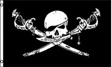 "12x18 12""x18"" Jolly Roger Pirate Brethren of the Coast Boat Decorative Flag 100D"