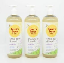Burt's Bees Baby Shampoo & Wash with Lavender, Calming 21 oz Pack of 3 Tear Free