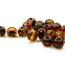 Rondelle Beads, Large Hole Beads, 12mm, 4.5mm Hole, Tortoise Shell, 4 Pcs, 0062