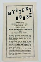 Vintage The Mystery House Of St. Augustine Florida FL Brochure Defies Gravity