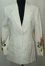 NWT Women's LAUREL White Blazer Size 36 100% Cotton