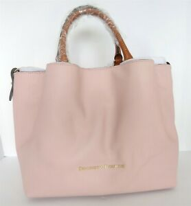 DOONEY & BOURKE PALE PINK BLUSH LEATHER LARGE BARLOW TOTE HANDBAG NEW W/ TAGS