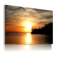 SEASCAPE SEA BEACH SUNSET Perfect View Canvas Wall Art Picture  AB60   MATAGA