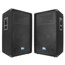 "Seismic Audio Pair 15"" PA DJ PRO AUDIO Speakers 700 W New Band Club"