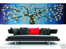 original Tree Flower of Life art painting 240cm by 80cm  Australia By Jane COA